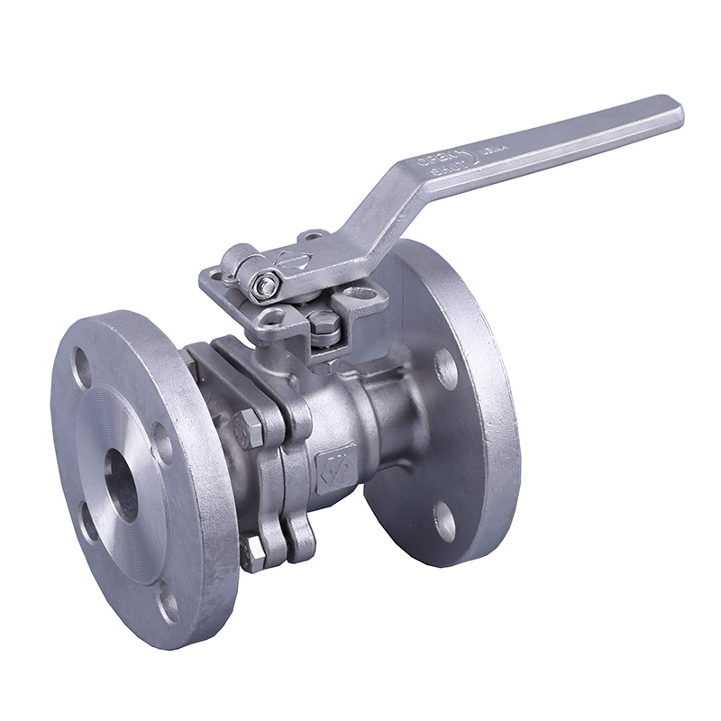 LN-Q2JFH-2PC flange ball valve with direct mounting pad 10K